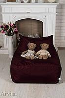 Бордовый Бескаркасное Кресло мешок диван XL