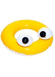 """Надувной круг """"Большие глаза"""" Bestway D=61см Желтый, Черный, Белый"""