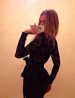 Платье баска гипюр