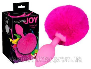 Анальна пробка - Colorful Joy Bunny Tail Plug