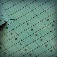 Шашка плоская из алюминия Кровля крыш из алюминия Влаштування даху з алюмінієвих ромбів