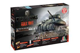 World of Tanks - M4 SHERMAN. Сборная модель танка в масштабе 1/35. ITALERI 36503