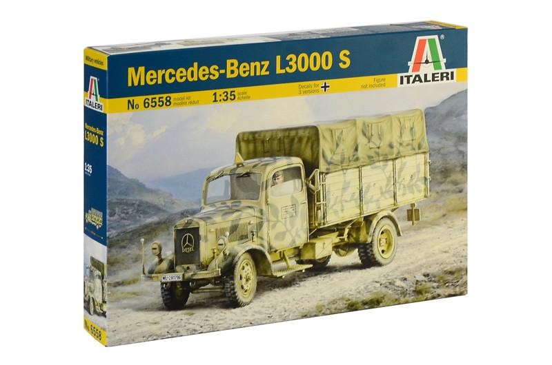 MERCEDES - BENZ L3000 S. Сборная модель военного грузовика в масштабе 1/35. ITALERI 6558