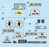 MERCEDES - BENZ L3000 S. Сборная модель военного грузовика в масштабе 1/35. ITALERI 6558, фото 2