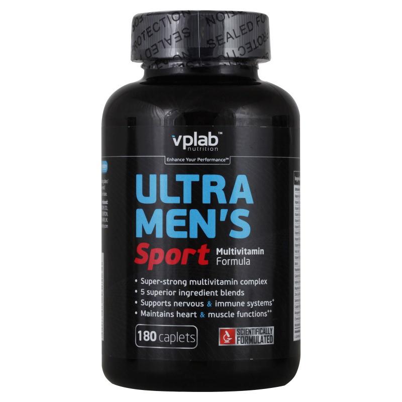 Витамины и минералы VPLab Ultra Mens Sport Multivitamin, 180 каплет