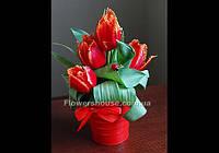 Подарочная композиция в декоративном ведерке - цветы к 8 марта