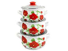 Набор эмалированной посуды Interos Каркаде 3 предмета(2392)