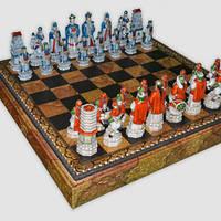 "Подарочные шахматы ""Китай-Монголия"" (Medium size)"