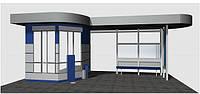 Дизайн-проект автобусного павільйону з кіоском