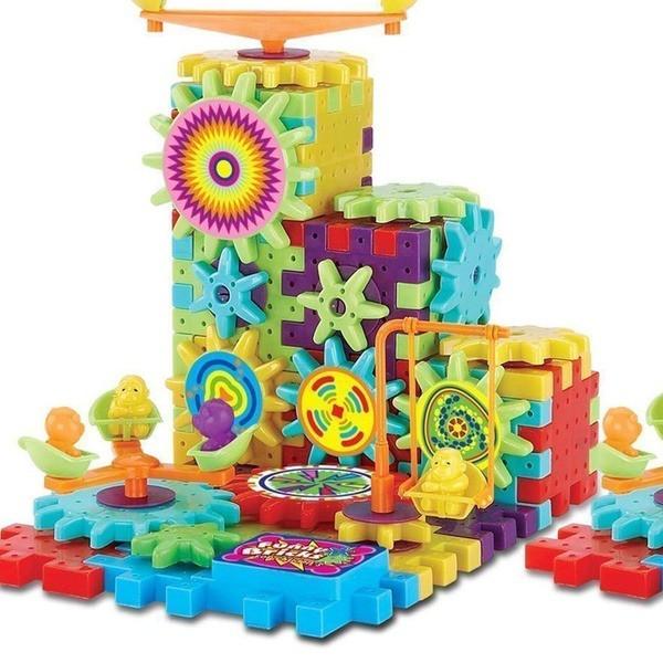 Детский 3D конструктор funny bricks 81деталь Волшебные шестеренки Фанни Брикс для девочек и мальчиков