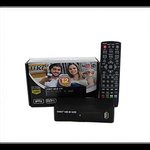 Цифровой эфирный тюнер UKC DVB-T2 0967 с поддержкой wi-fi адаптера c экраном