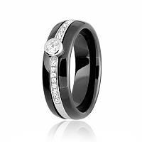 Серебряное кольцо керамическое К2ФК/1000 - 18,5