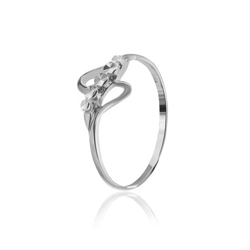 Серебряное кольцо  родированое К2/521 - 15