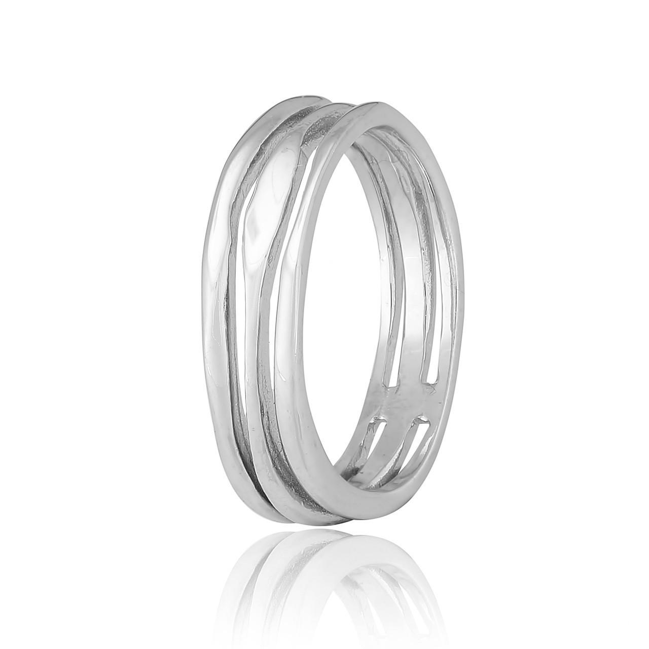 Серебряное кольцо  родированое К2/470 - 17,5