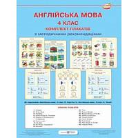 Комплект плакатов по английскому языку. 4 класс