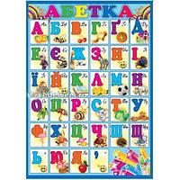 Азбука украинская. Плакат школьный