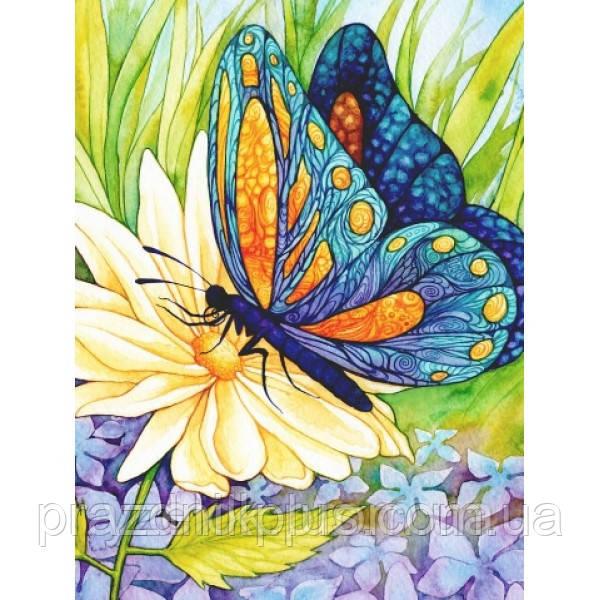 Набор алмазной вышивки Бабочка на цветке