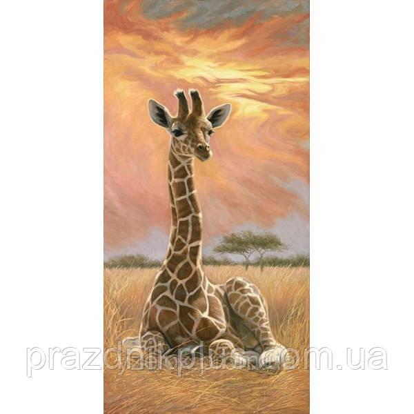 Набор алмазной вышивки Жираф на закате