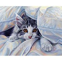 """Набор алмазной вышивки  """"Кошка под одеялом"""""""