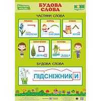 НУШ. Украинский язык. Плакат: Строение слова
