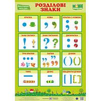 НУШ. Украинский язык. Плакат: Разделительные знаки