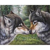 """Набор алмазной вышивки  """"Влюбленные волки"""""""