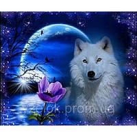 """Набор алмазной вышивки  """"Белый волк"""""""