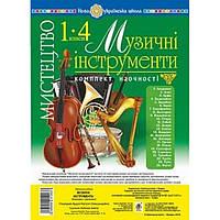 НУШ. Комплект наглядности 1-4 классы: Искусство Музыкальные инструменты