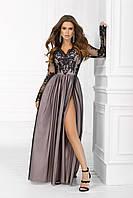 Платье вечернее макси (чёрный и фрез) S M L