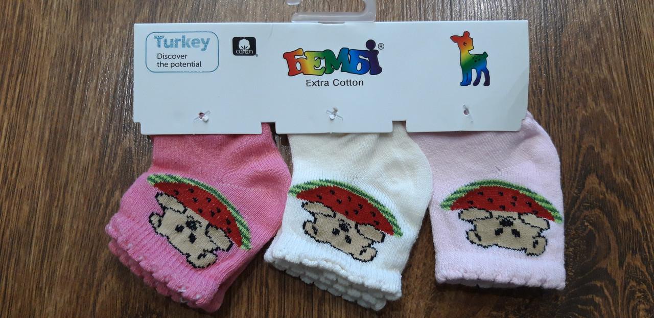 """Шкарпетки дитячі (бейбіки) """"Бембі"""" Туреччина, 0-1 рік для дівчаток"""