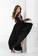 Платье вечернее макси ( чёрное) S M L