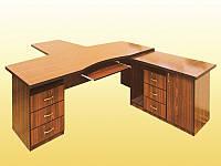 Стол руководителя, модель № 1 — 2400х1700х750 мм