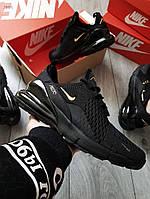 Мужские кроссовки Nike Air Max 270 Black/Gold
