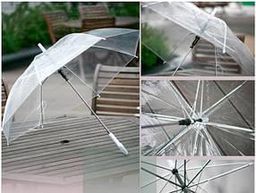 Великі прозорі силіконові парасольки тростина