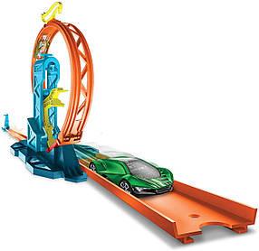 Трек Хот Вилс Грандиозная петля Подъемы и спуски Hot Wheels Track Builder Loop Kicker