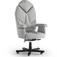 Кресло KULIK SYSTEM DIAMOND Экокожа с подголовником со строчкой Белый 1-901-WS-MC-0202, КОД: 1697031