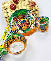 Набор детской посуды тарелка чашка для детей Brawl Stars Бравл Старс