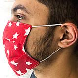 Багаторазова захисна маска для обличчя чорна лінивці, фото 8