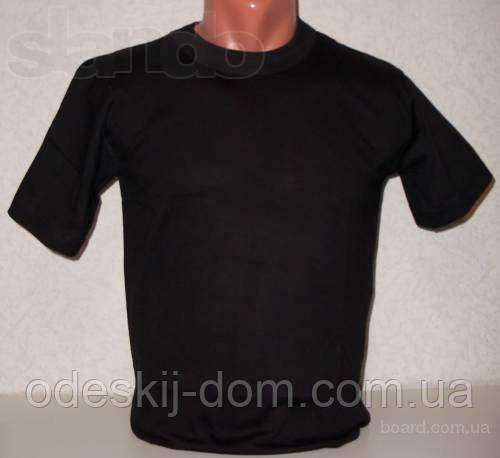 Футболка чоловіча бавовняна в чорному кольорі р 54-56