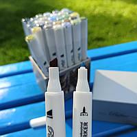 Скетч-маркеры двусторонние для бумаги профессиональные Marco. Набор скетч-маркеров для рисования 30 штук