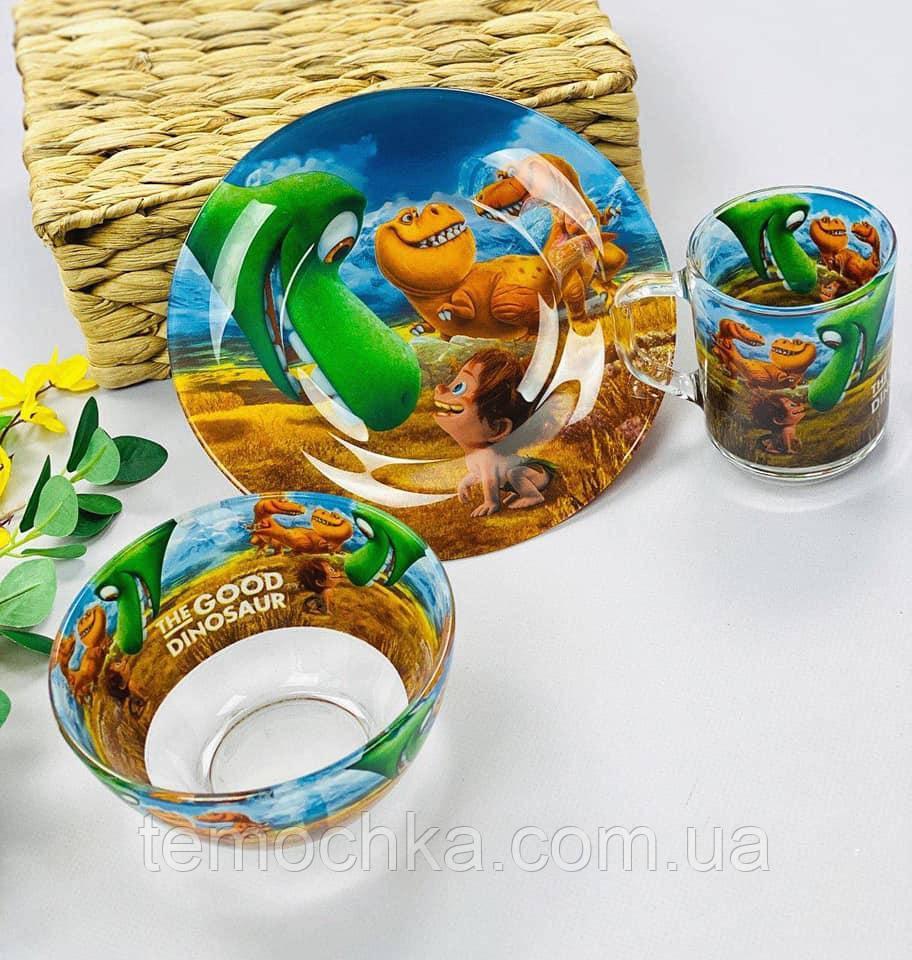 Набор детской посуды тарелка для детей The Good Dinosaur Хороший Динозавр