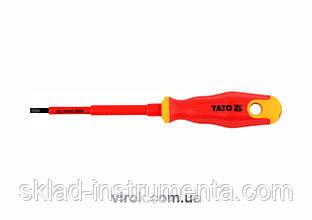 Викрутка діелектрична плоска YATO SL4 х 100 мм VDE до 1000 В
