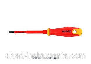 Викрутка діелектрична плоска YATO SL5.5 x 125 мм VDE до 1000 В