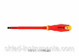 Викрутка діелектрична плоска YATO SL8 х 150 мм VDE до 1000 В