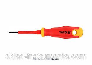 Викрутка діелектрична хрестова YATO PH0 x 60 мм VDE до 1000 В