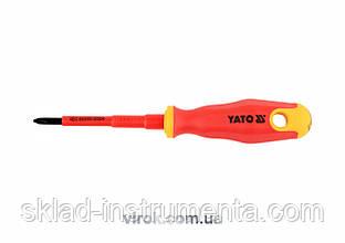 Викрутка діелектрична хрестова YATO PH1 x 80 мм VDE до 1000 В