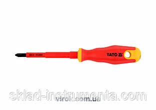 Викрутка діелектрична хрестова YATO PH2 x 100 мм VDE до 1000 В