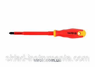 Викрутка діелектрична хрестова YATO PH3 x 150 мм VDE до 1000 В