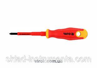 Викрутка діелектрична хрестова YATO PZ1 x 80 мм VDE до 1000 В
