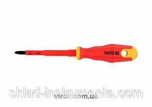 Викрутка діелектрична хрестова YATO PZ2 x 100 мм VDE до 1000 В